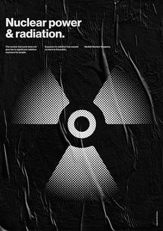 Nuclear power & radiation. Hope for the future / Poster series. #graphic #design #graphicdesign #helvetica #poster #minimal #typography #ar