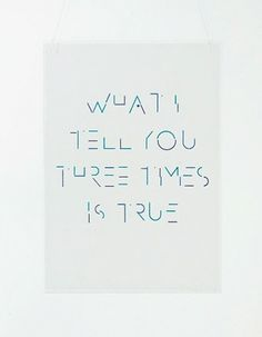 ghazaalvojdani.com - What I Tell You Three Times is True #type