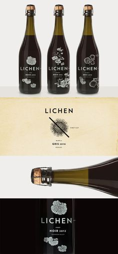 Lichen #packaging #bottle #wine #typography
