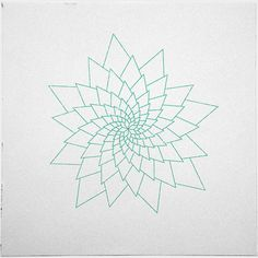 #307 Aster – A new minimal geometric composition each day