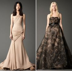 Black & Ivory: Vera Wang + MaeMae Paperie #fashion #dress