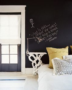 CJWHO ™ (Eclectic Traditional Bedroom) #quote #design #bedroom #interiors #chalk #photography