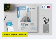 The Annual Report Template with 18 Pages by Creativity-Design