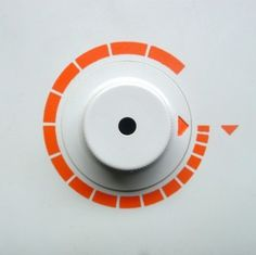 Braun electrical - Household - Braun H 7 #minimal #braun #orange #circle #dial #dieterrams