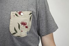 IMG_9611 #floral #shirt #pocket #tee #grey