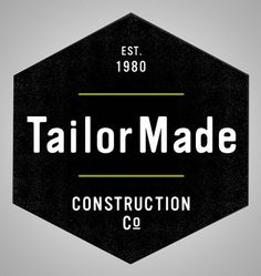 TailorMade Branding By Rev Pop #logo #brand #badge #construction