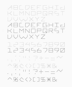 Font Design on the Behance Network #font #lines #minimal