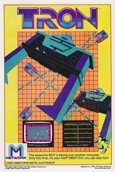 FFFFOUND! | All sizes | Tron for Atari 2600 by M Network (1982) | Flickr - Photo Sharing! #movie #poster #tron