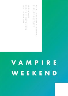 Vampire Weekend - James Kirkups portfolio #vampire #kirkups #james #poster #weekend