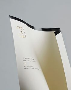 Gold foiled headed paper for Four Seasons private residence 30 Park Place by Mother #gold #foil #print