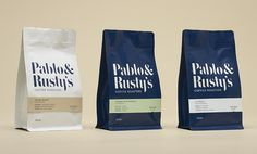 coffee, package, bag, blue, white, type