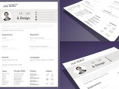 Touillaud Resume - Free Minimal Sketch Resume Template