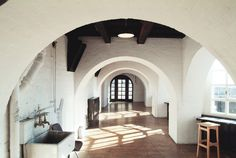 The Mac Photographic Archive/ SECOND FLOOR — LOGGIA JAN 2014 The 'Loggia' corridor and bay windows leaading to east of building and profes