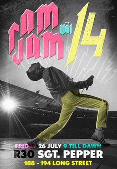 Rouleaux van der Merwe for Ram Jam 14 (Sgt Pepper) #design #psoters #typography