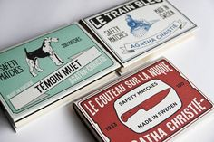 Jaquettes de livre Agatha Christie | Gabriel Lavallée — Designer graphique #matchbox #christie #agatha #book #livre #matches #bookcover