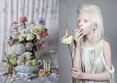 Wild Flower on Behance #white #smoke #flower #fire #blonde #fashion #still #life