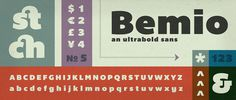 Lost Type Co-op | Bemio Designed by Joe Prince #fonts