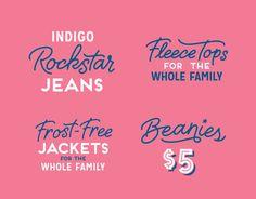 DanCassaro_OldNavyHoliday_06 #script #pink #retail #blue #typography