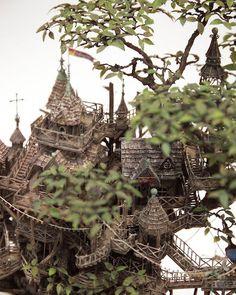 Fantasy bonsai treehouse