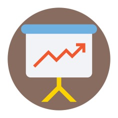 See more icon inspiration related to graph, board, graphic, whiteboard, marketing, presentation, symbol, tool, outline, business and office icons on Flaticon.