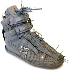 Laughing Squid #war #shoes #sneaker #art