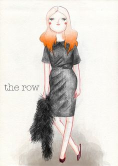 KRISATOMIC #girl #row #the #illustration #atomic #fashion #kris