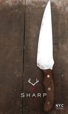 KNIFE LOGO on the Behance Network #cutlery #print #product #handmade #nyc #knife