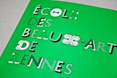 Livret de l'étudiant 2010/2011 (Caroline Fabès, 2010) – designers books #beauxarts #design #type #neobasis #booklet
