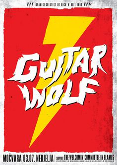 Guitar Wolf - Gig Poster