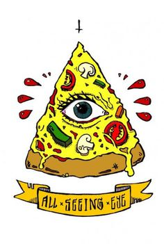 bangarang #illustration #tattoo #pizza