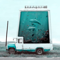Dreamlike Animals: Whimsical Photo Manipulations by Julien Tabet