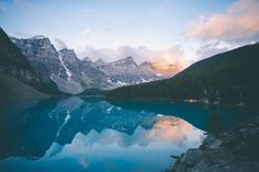Sunrise at Moraine Lake by Johannes Hoehn