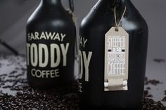 Stacked Type // Faraway Toddy Coffee #packaging #toddy #lovely #faraway #coffee #typography
