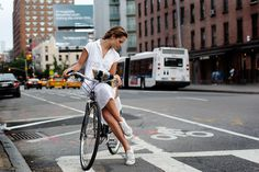 On the Street…..Hudson St., New York « The Sartorialist #bicycle #girl #sartorialist #york #new