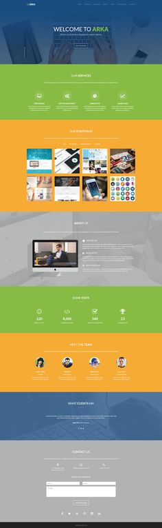 Arka - One Page Responsive Template #onepage #template #responsive #bootstrap #html