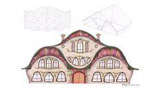 Unique architecture plans a drawing surrealism