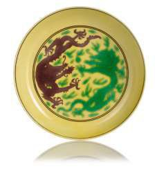 Imperial yellow bowl with dragon decoration #porcelain