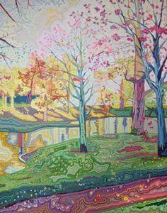"""Saatchi Art Artist Jisun Lee; Painting, """"virtual garden_03 (on exhibition)"""" #art"""