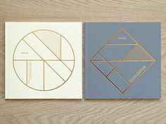 Present&Correct - Foiled Grid Book #geometric