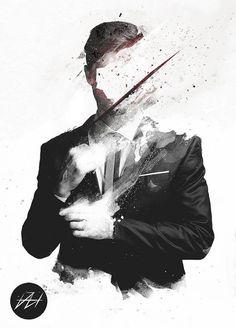Nice ImageFX by Daniel Hannih #illustration #portrait #white #black