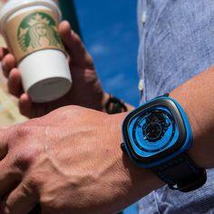 SevenFriday Industrial Essence Blue Watch #tech #flow #gadget #gift #ideas #cool