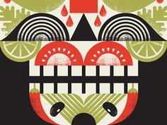 Tacoskull #taco #print #skull #illustration