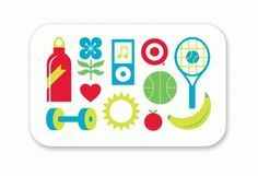 Eight Hour Day  Target Wellness Gift Card #illustrations