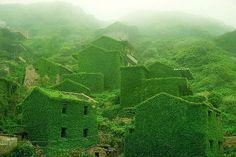 village, China, nature, place