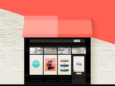 Vans . Free Illustration Kit By Sofia Drogoudi & Katia Tsikrikonaki #flat #clothing #shoes #accessories #shop #design #illustration #building #skate #vans