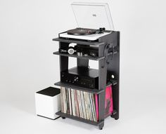 The Turntable Station is a #smart and #unique audio #furniture, just perfect for the #music lovers and #collectors.