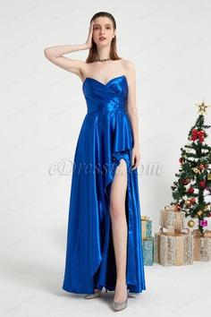 eDressit Blue V-Cut Corset Elegant Slit Party Evening Dress (02203705)