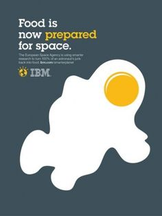 IBM: Outcomes food | Ads of the World™ #poster #minimalism #space #ibm