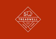 Treadwell designed by Perky Bros #logo #identity #bison #treadwell