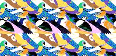 2017 Birds #illustration #design #pattern #birds #abstract #editorial #advertising #mkrnld